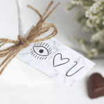 Printable Valentine's Day Gift Tags with Make and Tell