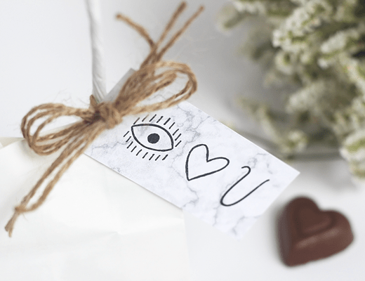 Printable Valentine's Day Gift Tags by Idle Hands Awake and Make and Tell