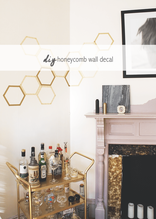 How to Make a Totally Removable Honeycomb Wall Decal
