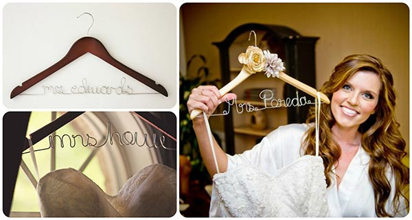 Personalised wedding dress hangers i do inspirations for Wedding dress hangers with name