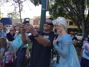 iecn photo/yazmin alvarez  The frenzy of Frozen fans in Downtown Redlands Jan. 24 included children of all ages.