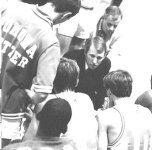 "Photo Courtesy/Pomona-Pitzer<br /><br /><br /><br /><br /><br /><br /><br /><br /><br /><br /><br /><br /><br /> Gregg Popovich (center) coached against Gary Smith when ""Pop"" was at Pomona-Pitzer."