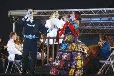 Photo/San Bernardino Symphony Orchestra Gustavo Hernandez, tenor, and Ana Gonzalez, mezzo-soprano performing during a concert.