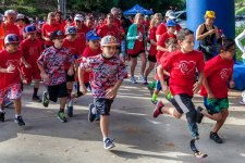 courtesy photo/lluch&lt;br /&gt;&lt;br /&gt;&lt;br /&gt;&lt;br /&gt;&lt;br /&gt;&lt;br /&gt;&lt;br /&gt;&lt;br /&gt;<br /> Hundreds of runners sprinted across the starting line, including Adrian Grajeda, a LLUCH patient and amputee, during the inaugural Family Fitness Fun 5K and Expo at the Burrage Mansion in Redlands.