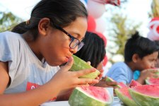 courtesy photo/rialto network<br /><br /><br /> Kids cooled down July 4 during a watermelon eating contest at Rialto's Hometown 4th of July Celebration.