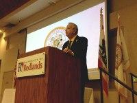 iecn photo/yazmin alvarez<br /><br /><br /><br /><br /><br /><br /><br /> Redlands Mayor Paul Foster delivers the State of the City Address June 25.