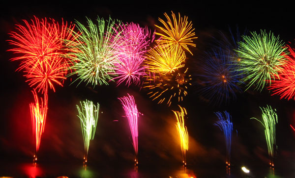 Fireworks Display in the Inland Empire