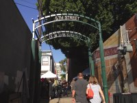 iecn photo/yazmin alvarez The gates to Orange Street Alley in Downtown Redlands opened July 24.