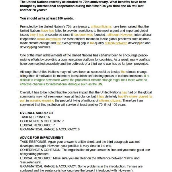 IELTS Writing Practice Test