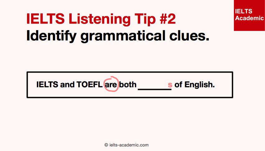 IELTS Listening Tip 2