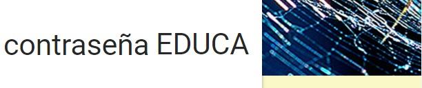 Solicitud cambio de contraseña EDUCA