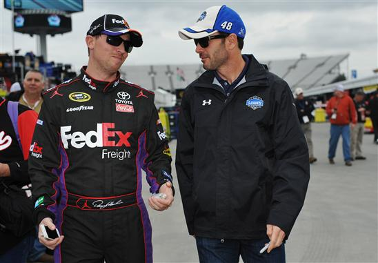 Denny Hamlin Jimmie Johnson Fantasy NASCAR