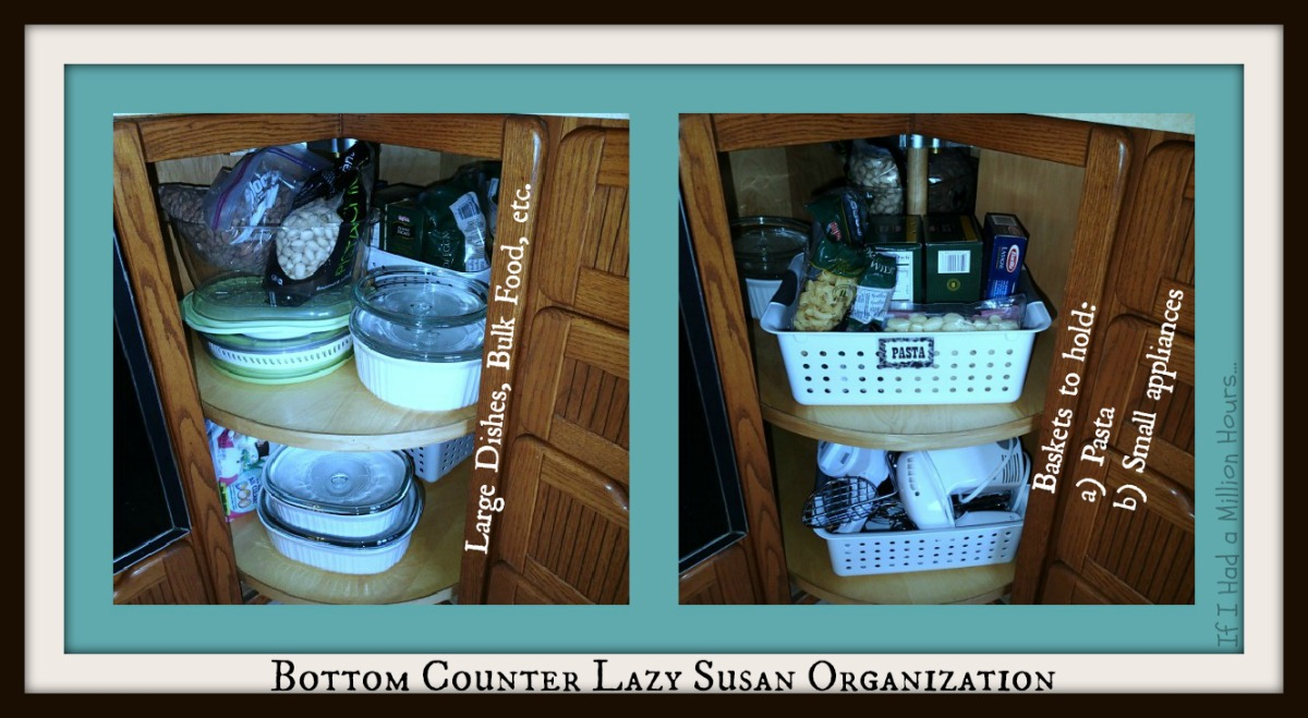lazy susan kitchen cabinet organization tips tricks on the cheap kitchen cabinet organizers Bottom Lazy Susan