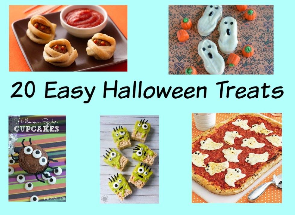 A round up of easy Halloween Treats that you can take to any party or enjoy at home.