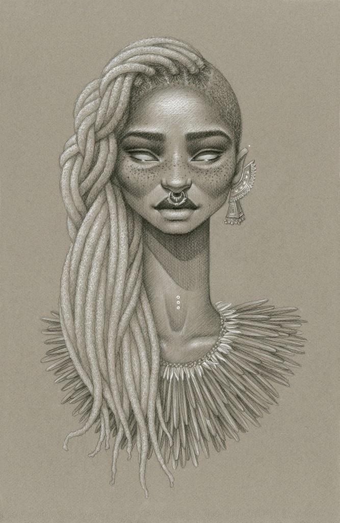 natural hair art - sara golish