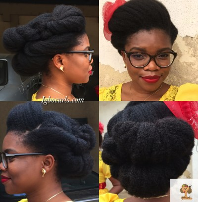 The Double Gibson on Natural Hair (Igbocurls)