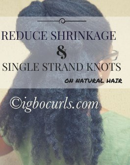 How to get rid of single strand knots