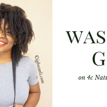 A Wash & Go WASH DAY on 4c Natural Hair