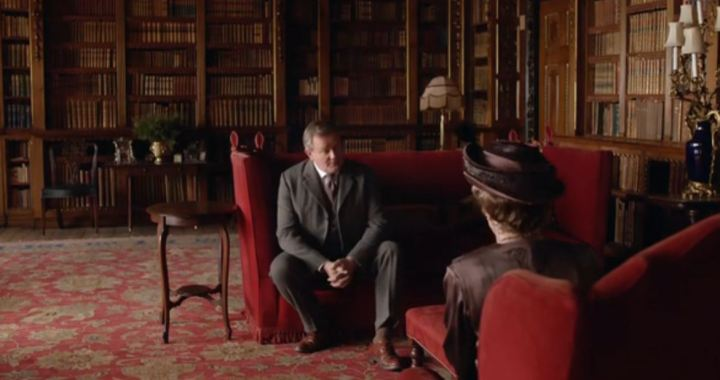 Earl of Grantham Gets Marriage Advice from His Mother Violet