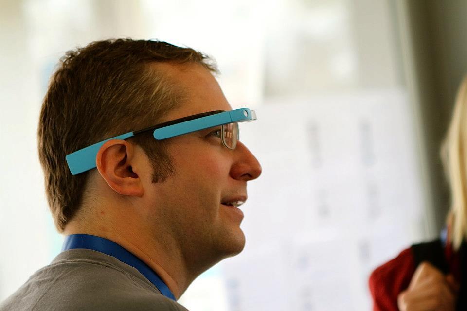 Thad Starner mit Google Glass