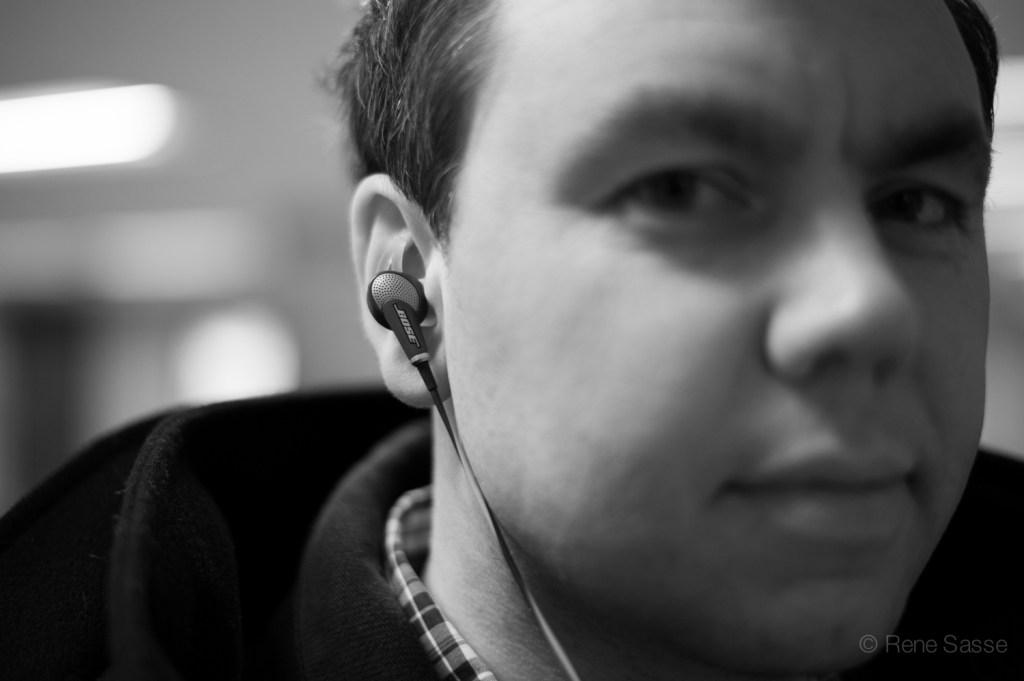 Bose Kopfhörer im Ohr