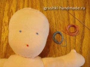 как сделать лицо кукле из ткани