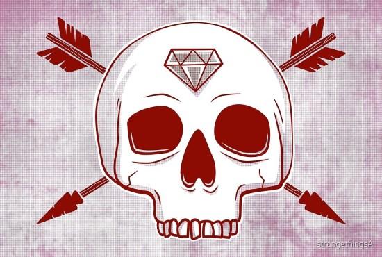 arrow skull