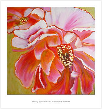 Flower painting tutorial with acrylic and pastel