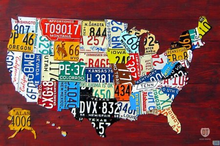 """""""license plate map of the united states 2011"""" by"""