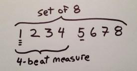 set of 8 aka 8-count or dancers-8