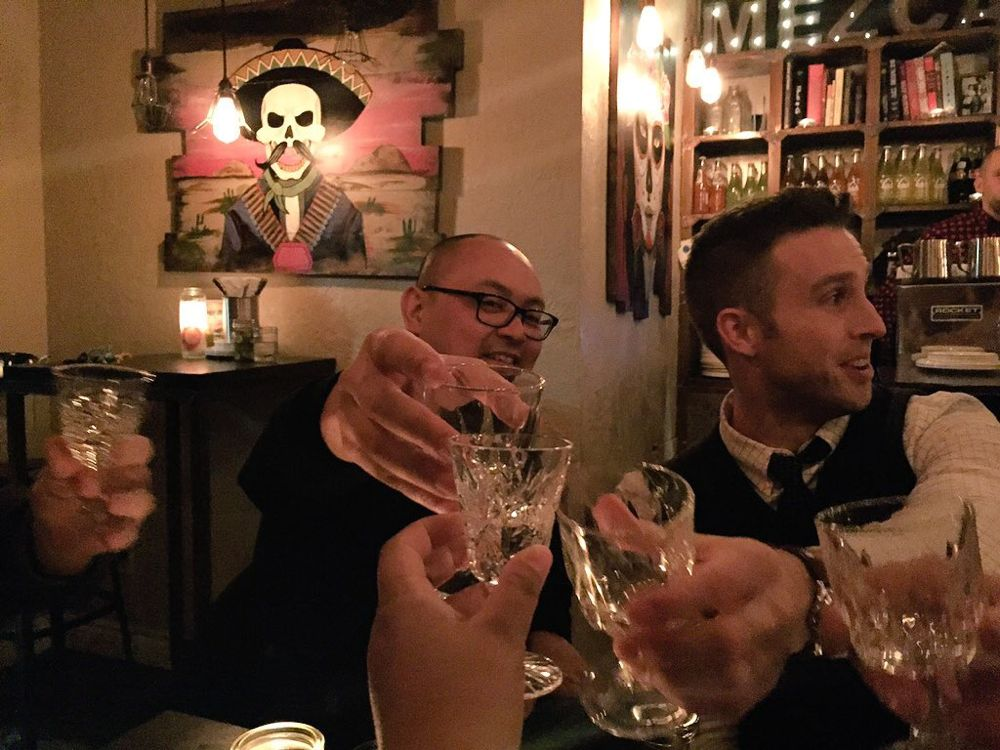 Paul from Hamilton Gastronomy and Ryan Moran of Men + Manner at Mezcal. Photo by Chanry.