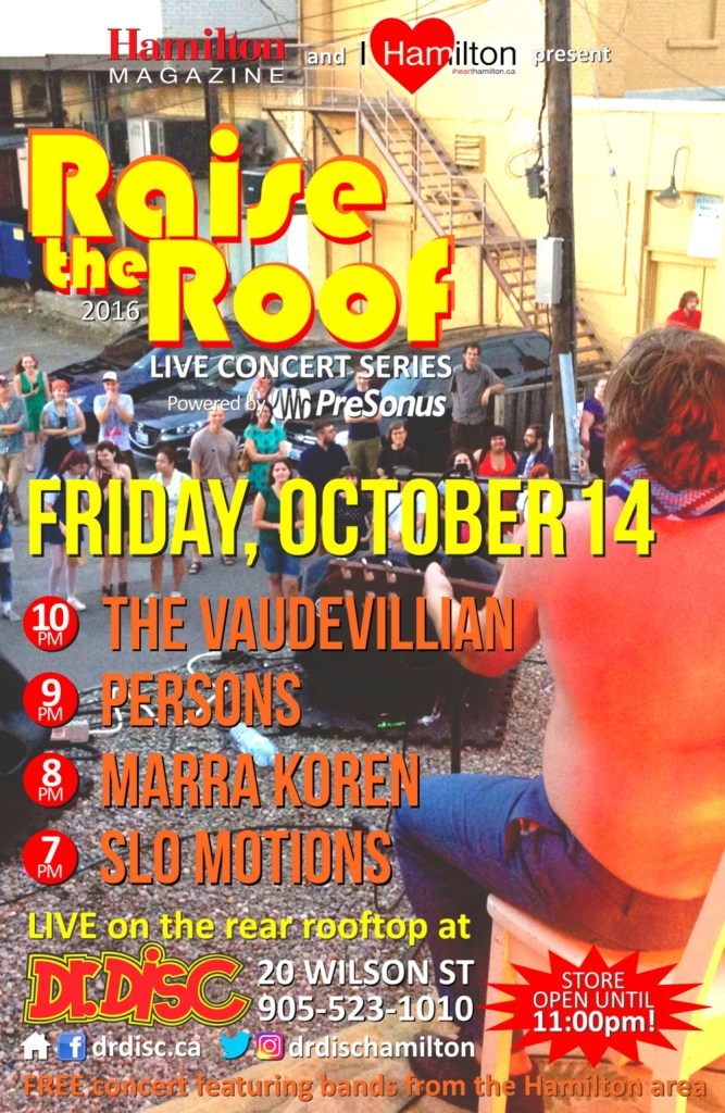 I HEART HAMILTON CO-PRESENTS RAISE THE ROOF @ DR. DISC (OCT. 14)