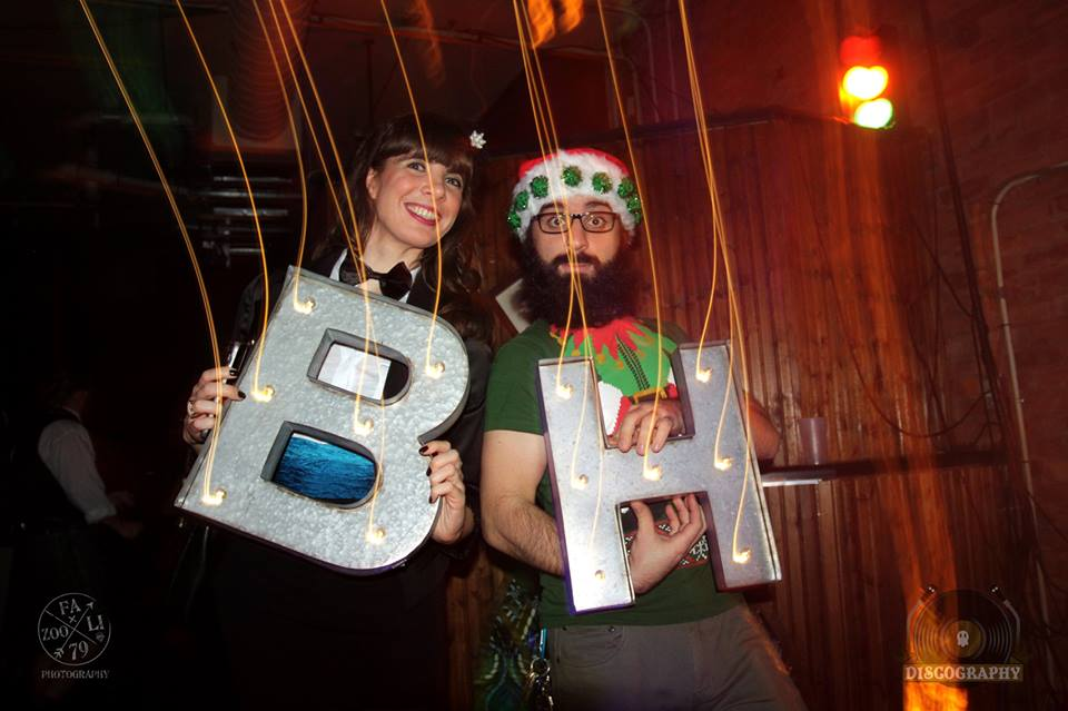 Kristin Archer and Jimmy Skembaris at Discography, The Baltimore House. Photo by Julie Fazooli