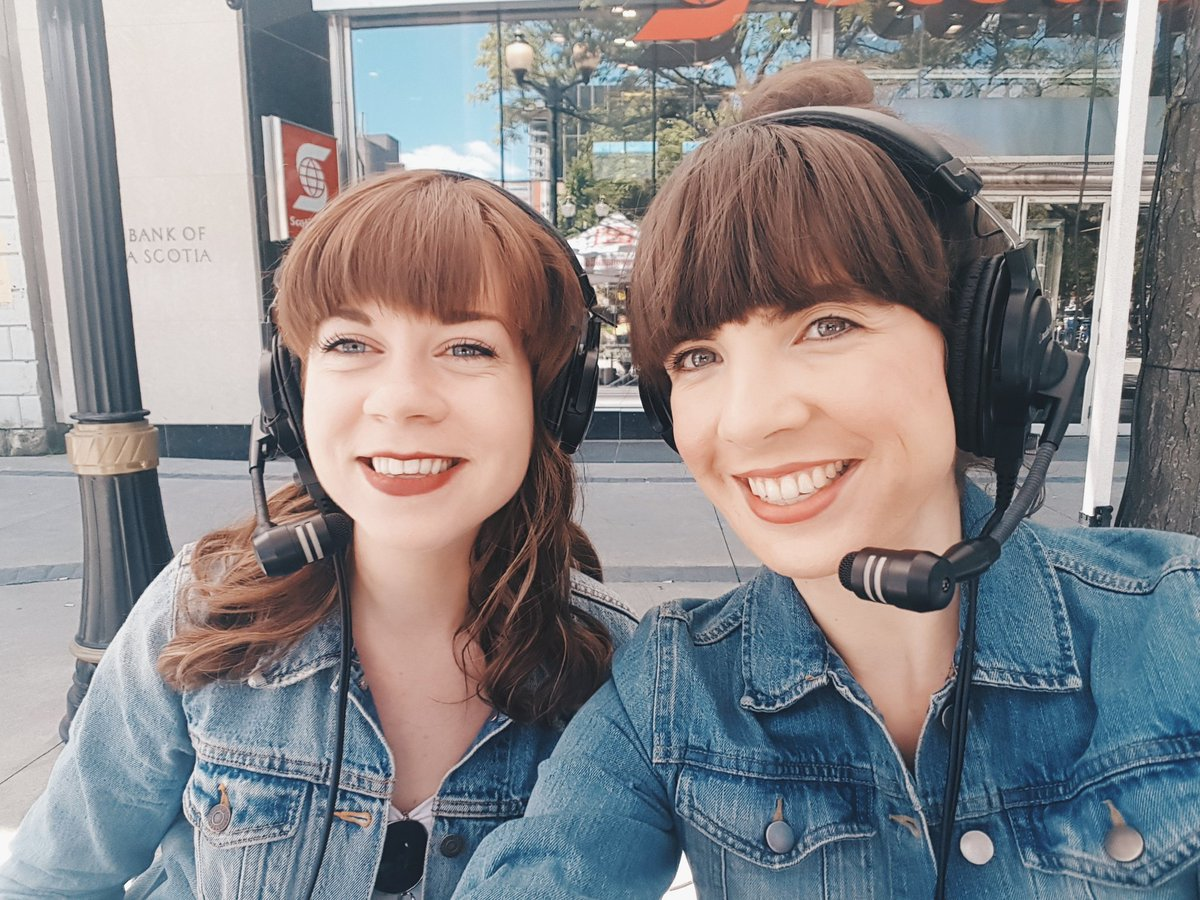 Rachel Connell and Kristin Archer in Gore Park