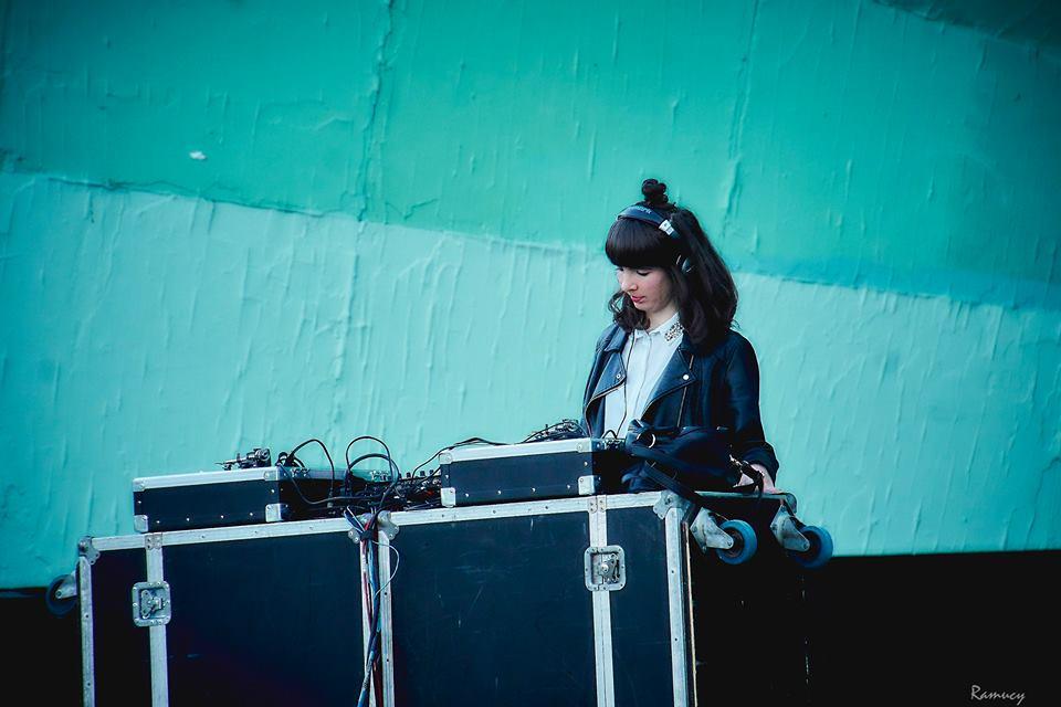 Kristin DJing Seven Sundays. Photo by Don Gleeson