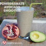 Pomegranate Avocado Smoothie