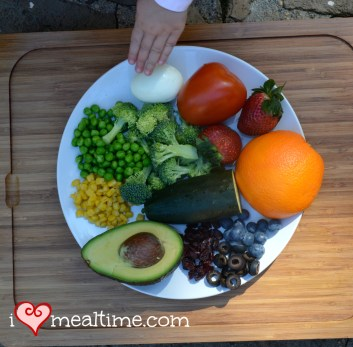 Fresh Fruits and Vegetable Ingredients for a Rainbow Salad