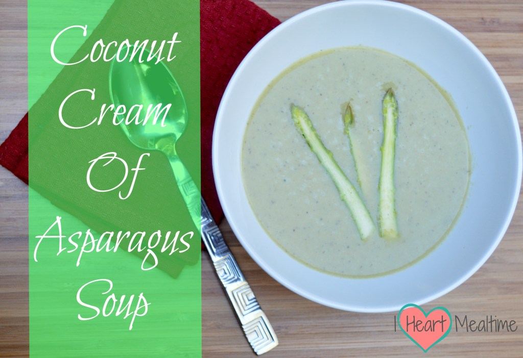 Cream of Asparagus soup make with coconut milk