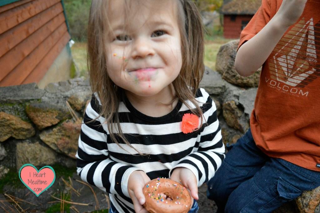Sierra eating her yummy donut