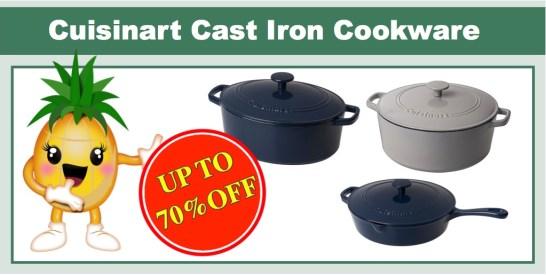 cuisinart cast iron cookware 70% off