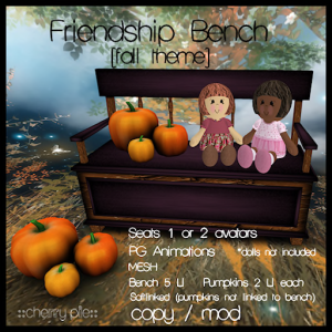 __cherry pie__  Friendship Bench (fall theme)