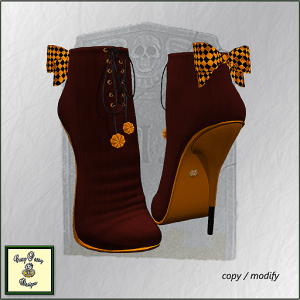 Crazy Pastry Designs Pumpkin Ankle Boots