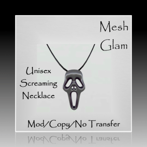 ~Mesh Glam~Unisex Screaming Necklace