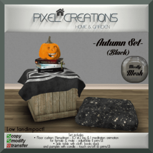 [PC] PIXEL CREATIONS - AUTUMN SET (BLACK)