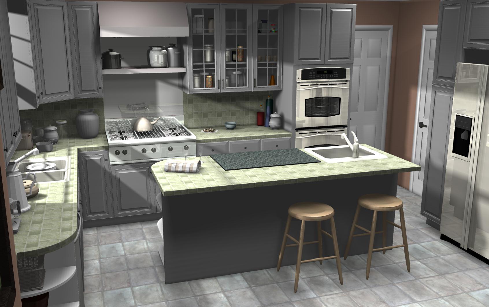 famous kitchens get the look mrs doubtfire movie homes gray kitchen floor IKEA