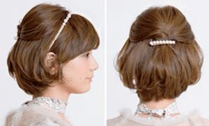 結婚式 ショート 髪型 ゲスト、5