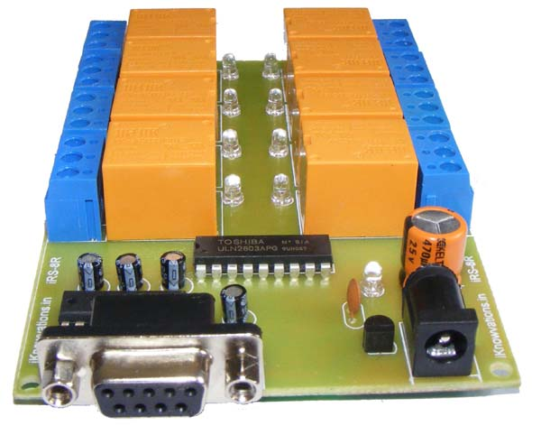 8 Channel RS-232 Relay Board module - iknowvations.in