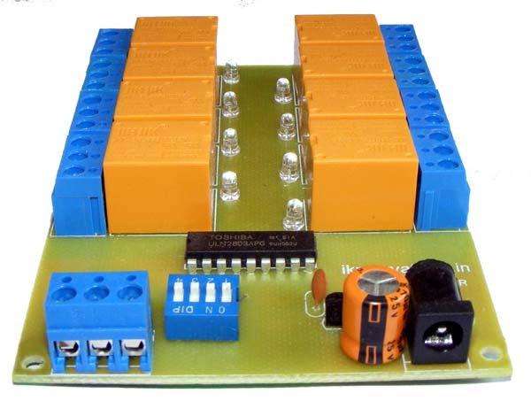 8 Channel RS-485 Relay Board - iknowvations.in