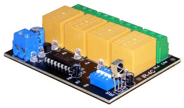 4 Channel IR Remote Control Relay Board - iknowvations.in