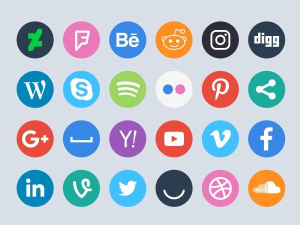 Free Download - Social Media Circle Icons